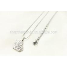 China venta al por mayor 2015 collar de diamantes de moda de acero inoxidable