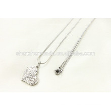 China wholesale 2015 fashion stainless steel diamond necklace