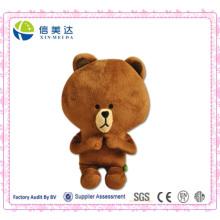 Супер милый играющий палец Бурый медведь фаршированный животных
