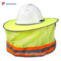 Hot Selling High Visibility Reflective Full Brim Breathable Hard Hat Shade Netting For Neck Flap Helmet Sunshade