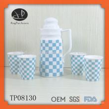 Alta qualidade garrafa de água de cerâmica com copo, garrafa de água para casa, chaleira de água, conjuntos de drinkware