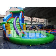 Outdoor Customized Inflatable Water Slide With A Big Pool D