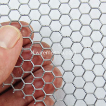 Lubang Hexagonal Galvanized Perforated Metal Mesh