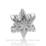 925 Sterling Silver Coral Beads Jewelry Designs Snowflake Charm Fit European Brand Snake Bracelet Fine Jewelry X397