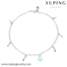 74132-xuping bijoux fantaisie couleur argent cheville bijoux, cheville de mode nouveau design