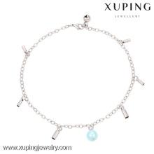 74132-xuping мода ювелирные изделия серебряный цвет браслеты, новый дизайн моды ножной браслет