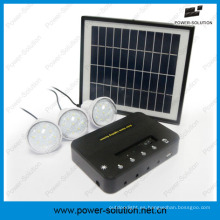 Ilumine 3 cuartos Sistema de energía con energía solar para áreas fuera de la red