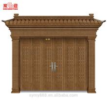 porta da frente villa porta de entrada de luxo porta dupla de aço high-end residencial opsition