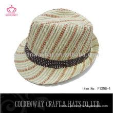 Chapéu de fedora tecido de palha de papel