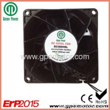 Telecom Cabinet For Outdoor Use Ec Cooling Fan With Brushless Motor And Pwm Speed