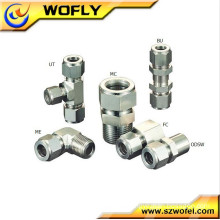 hydraulic stainless steel compression connector fitting nipple