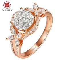 Оптовая Серебряное кольцо для импорта с кубическим циркониевым камнем