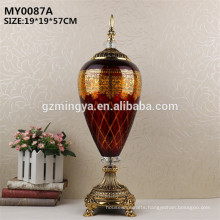 Halloween home decoration orange color glass bottle luxury design for home