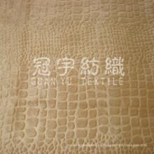Tela del sofá de pelo corto y poliéster terciopelo en relieve