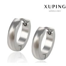 91965 Pendiente de joyería simple de acero inoxidable de moda fresca Huggie