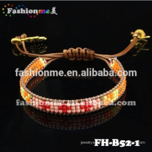 Newest good quality cheap seed bead adjustable wrap bracelet