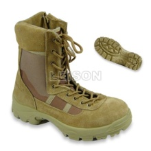 Tactical Boots of Cowhide Full Grain Leather/ Anti-Slip