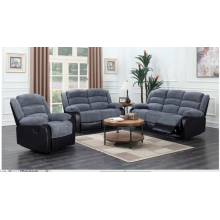 Cadeira reclinável de tecido cinza para sala de estar