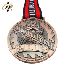 Bespoke antique bronze custom zinc alloy metal jujitsu medalla medals
