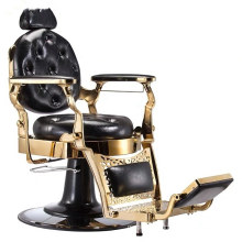 Luxury Heavy Duty Hydraulic Man Barber Chair Salon Styling Chair Gold Barber Chair