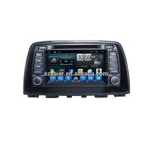 Glonass / GPS Android 4.4 leitor de DVD do carro para Mazda 6 com espelho-link TPMS DVR com GPS / BT / TV / 3G