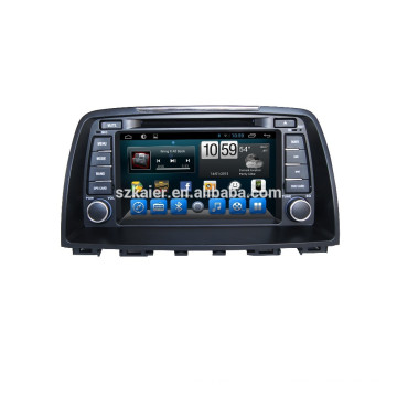 Glonass/GPS Android 4.4 car DVD player for Mazda 6 with mirror-link TPMS DVR with GPS/BT/TV/3G