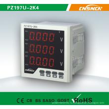 Трехфазный цифровой дисплей Светодиодный индикатор напряжения Электрический вольтметр