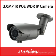 3.0MP WDR Poe IP Water-Proof 2.8~12mm Lens IR Bullet Camera