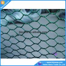 O uso comum do fio de galinha do engranzamento de fio sextavado revestido PVC verde / eletro galvanizou a cerca de fio das aves domésticas