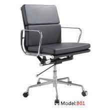 Modern Eames Hotel Кожаный алюминиевый стул для отдыха (B01)