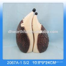 Novas decorações cerâmicas hedgehog cerâmica, hedgehog figurine para decoração home