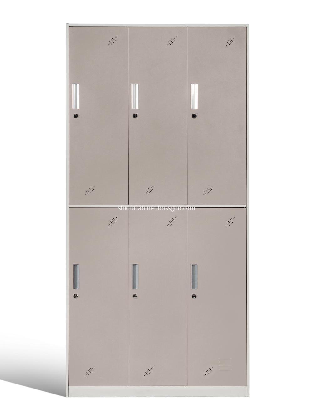 Narrow Frame 6 Door Locker