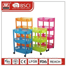 plastic bathroom storage/3 layer plastic rack/household plastic items