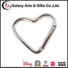 Heart-Shaped Aluminum Material Keychain