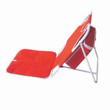 Foldable Beach Mat with Steel Frame, Made of 600D PVC, Measures 33 x 35/43 x 52cm
