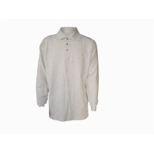 Camisa pólo masculina 100% algodão manga comprida