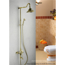 Golden Plated Bathroom Bath Faucet (MG-7376)