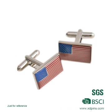 2016 Customized Newly Flag Logo Printed Cuff Link