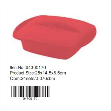 25 * 14,5 cm Silikon-Kuchen-Form mit Deckel