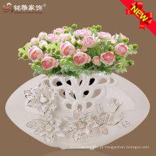 Vaso de decoração familiar com design elegante para decoração de casamento