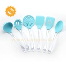 Best seller amazon kitchen durable silicone kitchen accessories PS handle utensil set