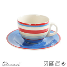 Nice Hand Painting Colorful Cup & Saucer