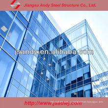 Профессиональная дизайнерская стеклянная унифицированная занавесная стена