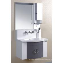 Mobília do armário de banheiro do PVC de 80cm (P-016)