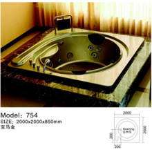Round Walk In Acrylic Bathtub Jecuzzi