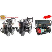 5000psi / 345bar Бензиновый двигатель Промышленная горячая вода высокого давления шайба (DHB-5007G)