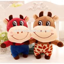 Brinquedo de pelúcia vaca design personalizado bonito para crianças