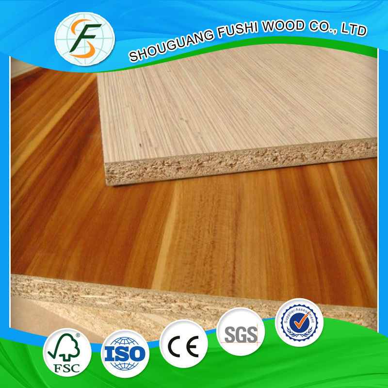 China fiber board type and melamine faced particle