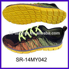SR-14MY042 knitted sports shoes knit upper shoes knit fabric sports shoes knit men running shoes