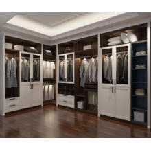 Dark Walnut Customized Wardrobe Corner Wardrobe
